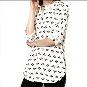 LOFT oversized popover blouse